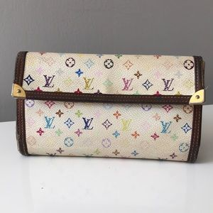 Auth Louis Vuitton Takashi Muakami Wallet